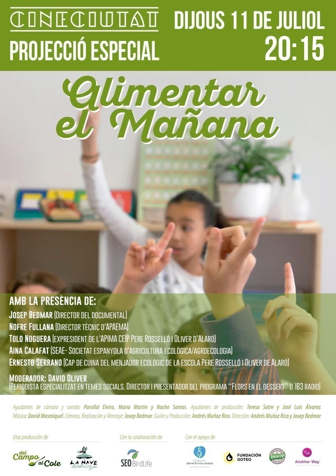 """Presentación del Documental """"Alimentar el Mañana"""" en Baleares"""